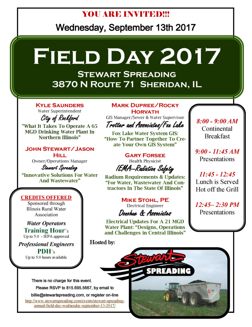 Field Day September 13th 2017