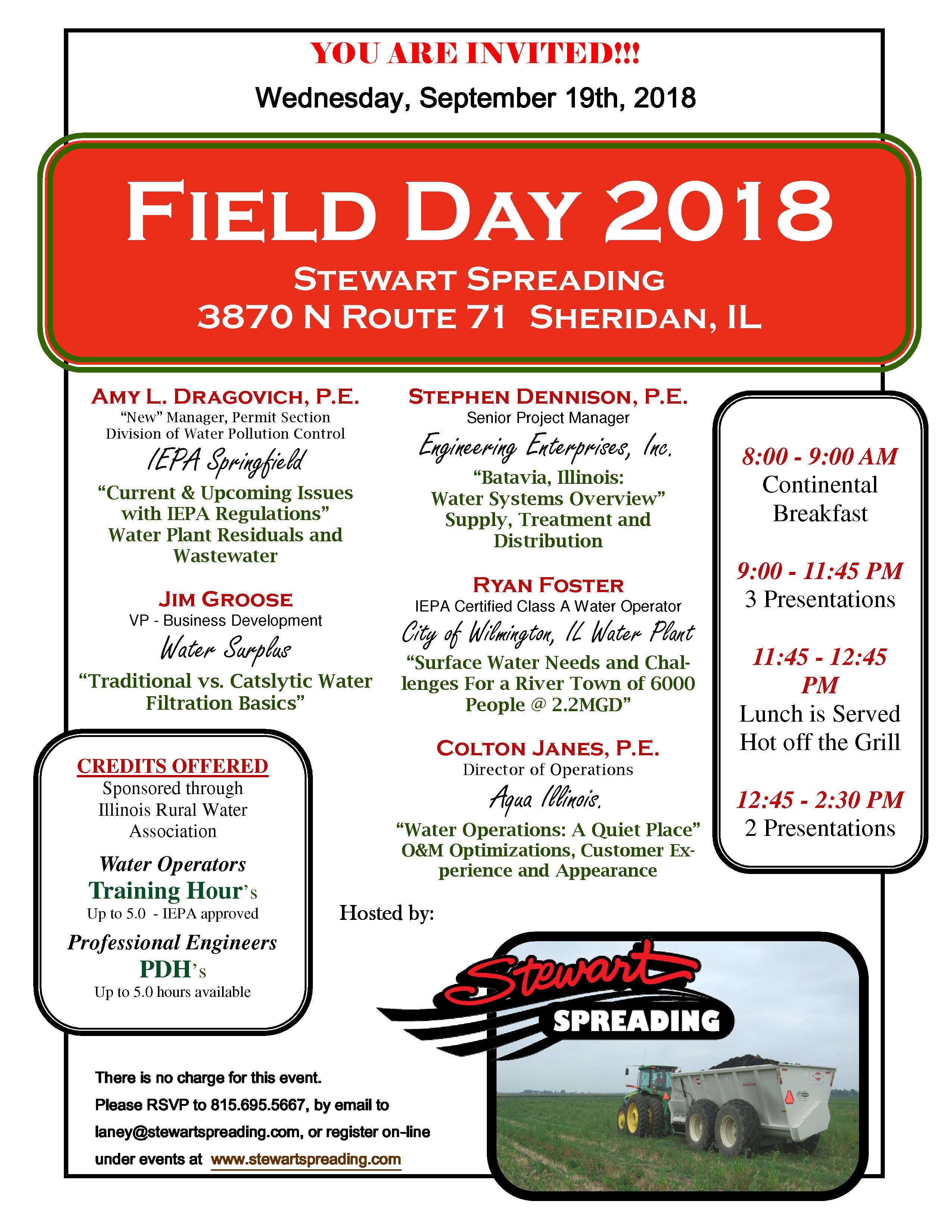 Field Day September 19th 2018