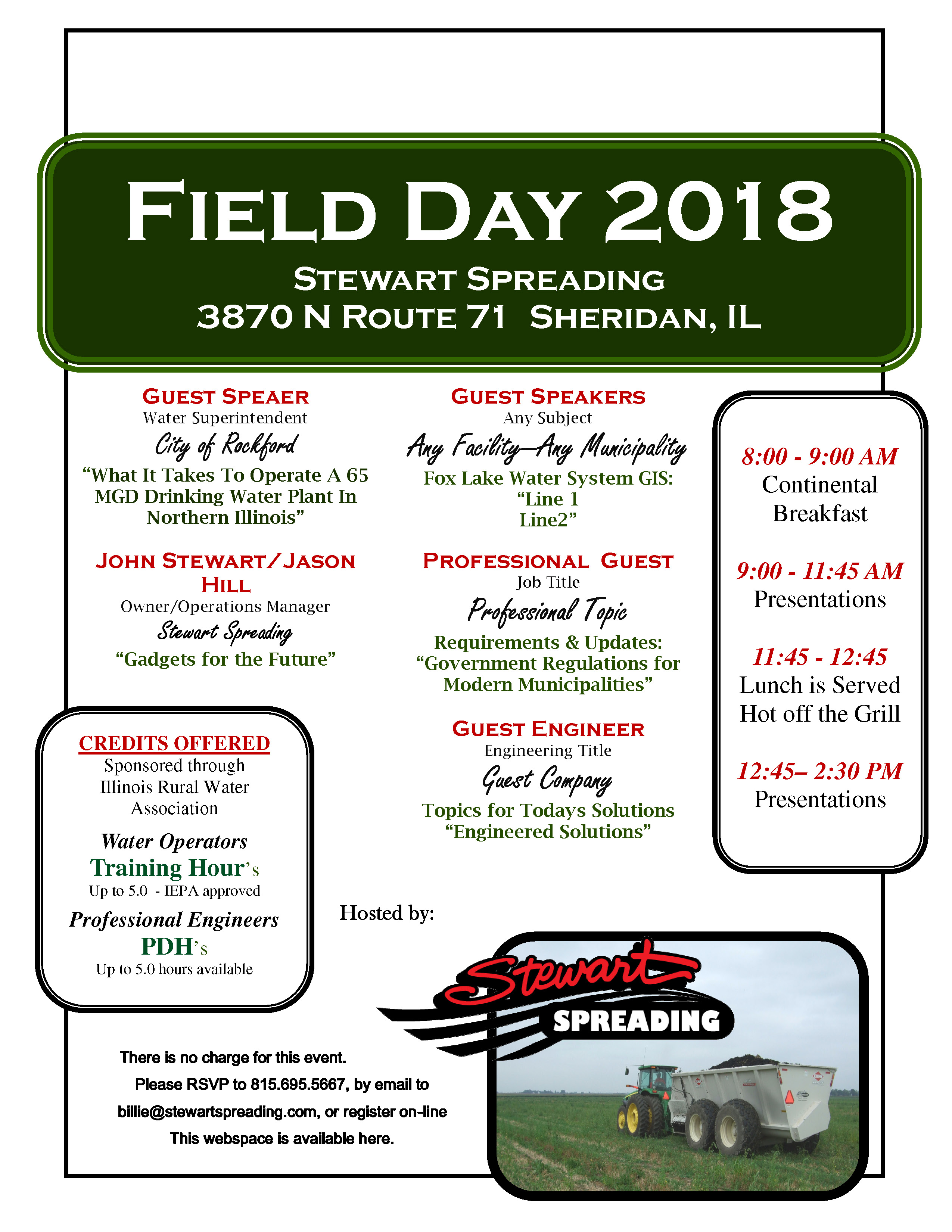 Field Day September 19th 2018