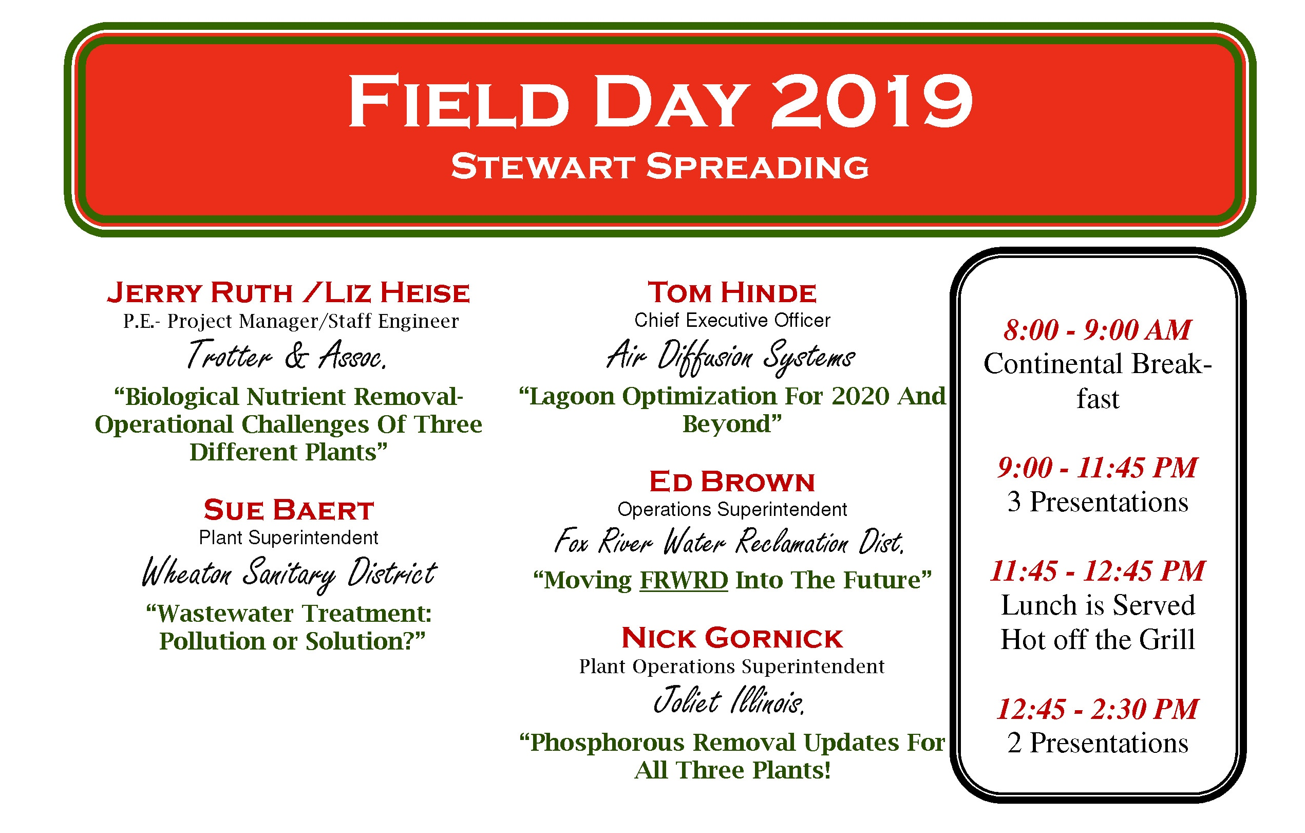 Field Day September 18th 2019